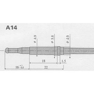 Thermokoppel SIT A14 kop
